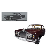 1968 Rolls Royce Silver Shadow Burgundy 1/18 Diecast Model Car by Parago... - $183.26