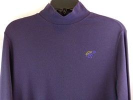 Vtg Lands' End Blue Long Sleeve Shirt Size Small 6-8 Fish Jumping Embroi... - $8.70