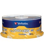 Verbatim 94834 4X DVD+RWs, 30-Count Spindle - $39.32