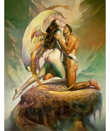 New 8.5x11 Vintage Fantasy Nude Women Fine Art Print Picture Poster Girl... - $12.16