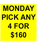 MON - TUES DEAL PICK ANY 4 FOR $160 DEAL BEST OFFERS DISCOUNT MAGICK  - $0.00