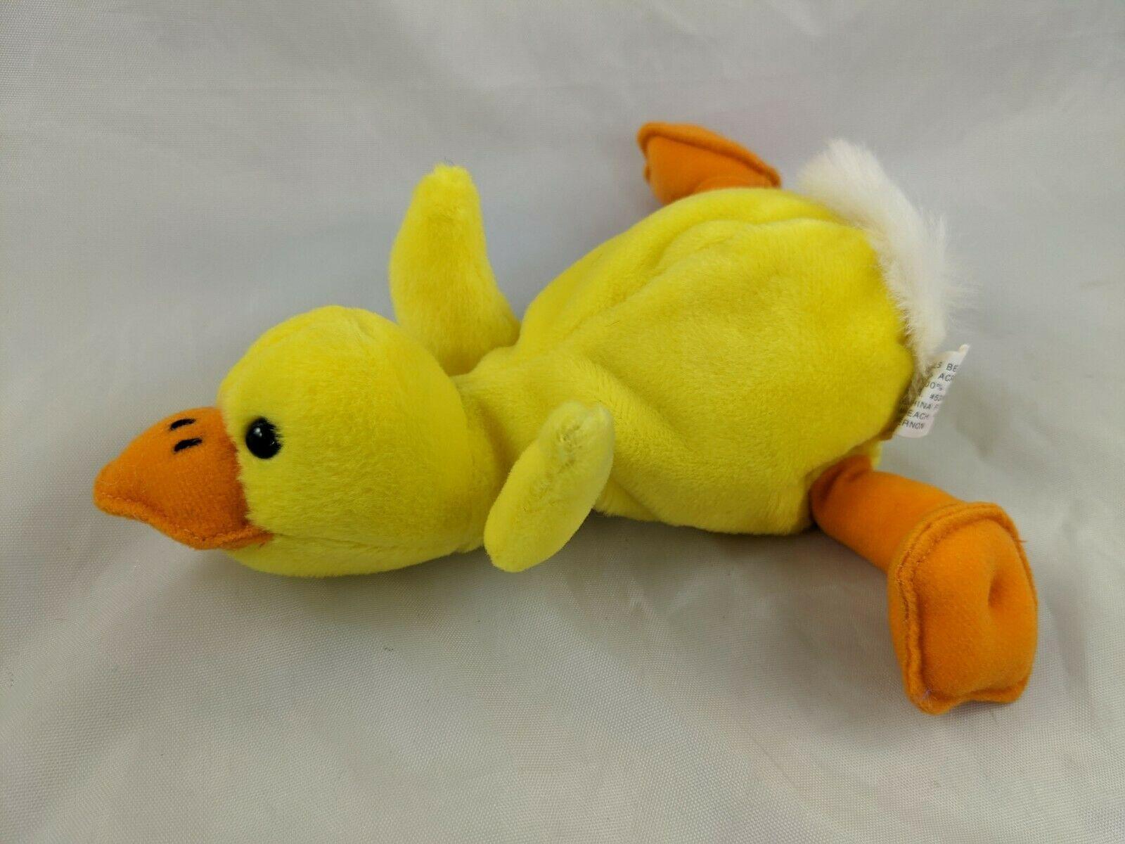 "Yellow Duck Plush Beans 7"" Lillian Vernon Stuffed Animal Toy - $9.95"