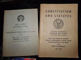 Vintage Order of Elks vest with pins, 1951/52 booklets flag and letter of accept image 6