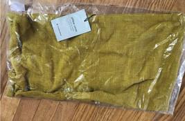 West Elm Silk Lumbar Pillow Cover Dark Horseradish 12x21L Handlooped  - $29.50