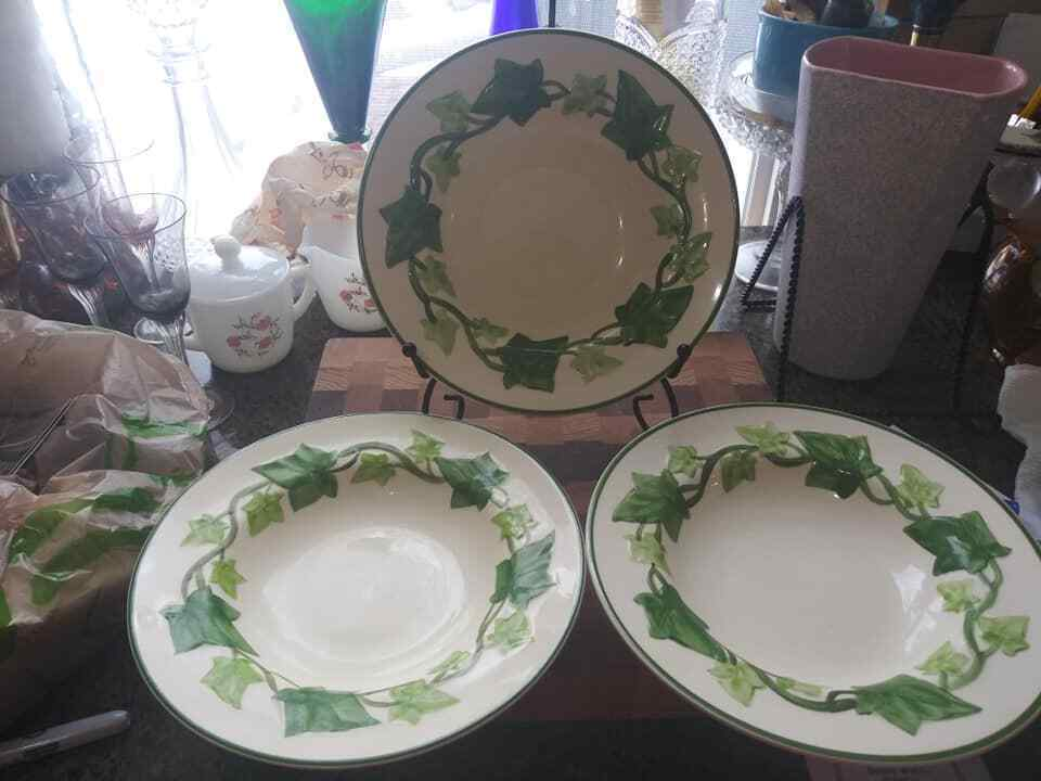 Franciscan Ivy Set of 8 Flat Rim Soup/Salad Bowl  /I Love Lucy Dishes  8.50""