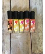 Lot of 5 Sally Hansen I Love Nail Art Polish Orange, Yellow and Sherbet - $10.36