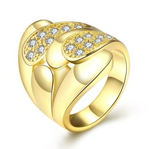 R382 Fashion Jewelry Zircon Ring(GOLDEN 8) - $147,50 MXN