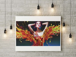 Abstract Digital Art - Woman Oil Portrait, Color Dress Splash, Download ... - $4.20