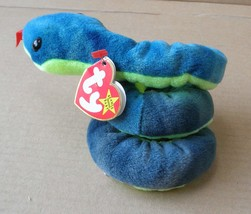 TY Beanie Babies Hissy the Snake Stuffed Animal Plush Toy - 3 inches tal... - $14.58