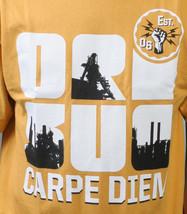 Orisue Mens Gold Yellow White Carpe Diem Union Working Industry T-Shirt NWT image 2