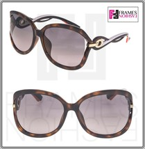 CHRISTIAN DIOR TWISTING Brown Havana Pink Rubber Gradient Sunglasses Aut... - $277.20
