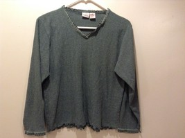 Gilligan O'Malley Women's Green V-Neck Sweater Sz S