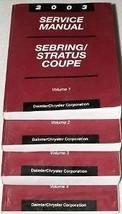 2003 CHRYSLER SEBRING COUPE Service Shop Repair Workshop Manual Set FACT... - $15.74