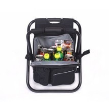 Chair Cooler Bag Beach Camping Fishing Picnic Backpack Folding Multi Fun... - €57,43 EUR
