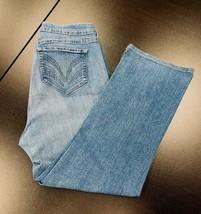 Women's NYDJ Blue Denim Jeans 18W Stretch Rhinestones Straight Leg Lift ... - $29.69