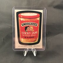 Topps Wacky Packages Series 8 Smoochers Sticky Jam Sticker Trading Card Vtg 1974 - $9.90