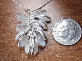 Blue Moonstone Cluster 925 Sterling Silver Pendant Corona Sun Jewelry - $12.86