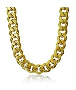 Fashion kimi2 Na276-18k Gold Filled 15.5mm Heavy Mens Chain Long Necklac... - $18.73