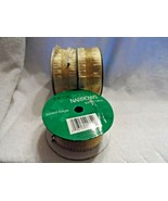 """3 rolls of wired edge gold sparkle ribbon 1.5"""" wide - $16.50"""