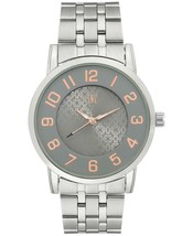 I.N.C. International Concepts Men's Silver-Tone Link Bracelet Watch 42mm NIB image 1