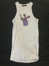 Women OBEY Lavender Ribbed Sleeveless Tank Top Wife Beater Size XS USA Made image 1
