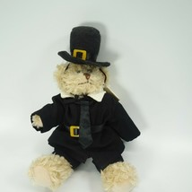 "Unipak Beige Pilgrim Bear 8"" Black Jacket Plush BTG Friends Stuffed Anim... - $29.99"