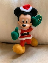 VINTAGE WALT DISNEY MICKEY MOUSE FLOCKED  CHRISTMAS ORNAMENT Holiday Decor - $24.75