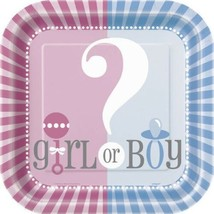 Gender Reveal Party Girl Boy ? Baby Shower Cake Square Cake Dessert 10 P... - $3.49