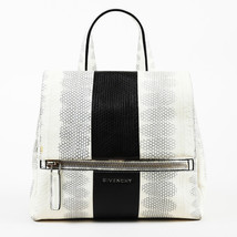 d5c59d8874 Givenchy Black White Watersnake  quot Small Pandora Pure quot  Shoulder Bag  ...