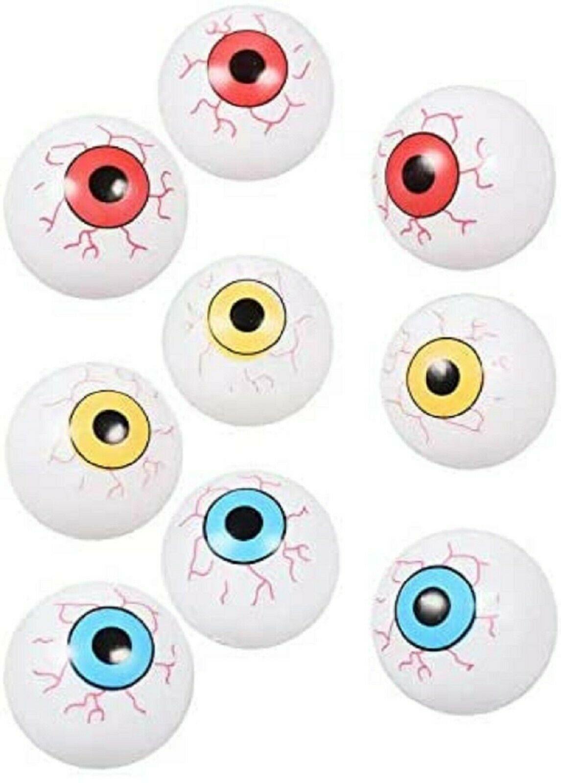 Eyeball Ping Pong Balls for Halloween or Table Tennis - 12 Plastic EyeBalls