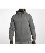 Nike Men's Jumpman Fleece Full-Zip Hoodie   NEW AUTHENTIC Grey/White 939... - $44.49+