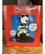 Snoopy & Woodstock Animated Phone ONLY PLAYS MUSIC DOES NOT MOVE Origina... - $39.99