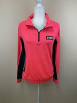 Victoria's Secret Pink M Ultimate Neon Pullover 1/4 Zip Active Shirt - $17.99