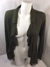 Banana Republic Women Blouse Open Front Brown Wool  Long Sleeve Stretch Size S - $12.19