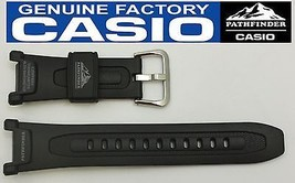 CASIO Pathfinder Pro-Trek PAG-240 18mm Original Black Rubber Watch BAND ... - $26.95