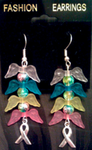 The Jayden Scott Collection - CDH Angel Wings Earrings - Pink Bottom - $7.00