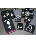 Avon Jewelry Lot- Gift Sets, Necklace, Rings, Silver Floralie - $59.95