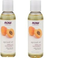 2 Pack NOW Foods Apricot Kernel Oil Pure Moisturizing Solution 4-Ounce - $12.99