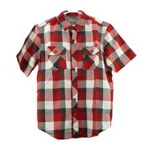 NEW Orvis Men's Short Sleeve Woven Tech Shirt - Red Plaid image 1