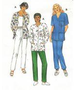 Misses Kwik Sew Medical Scrubs Uniform Pockets Shirt Jacket Pull-On Pant... - $11.99