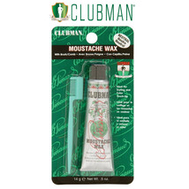 Clubman Pinaud Moustache Wax with Brush/Comb, Neutral  .5 oz
