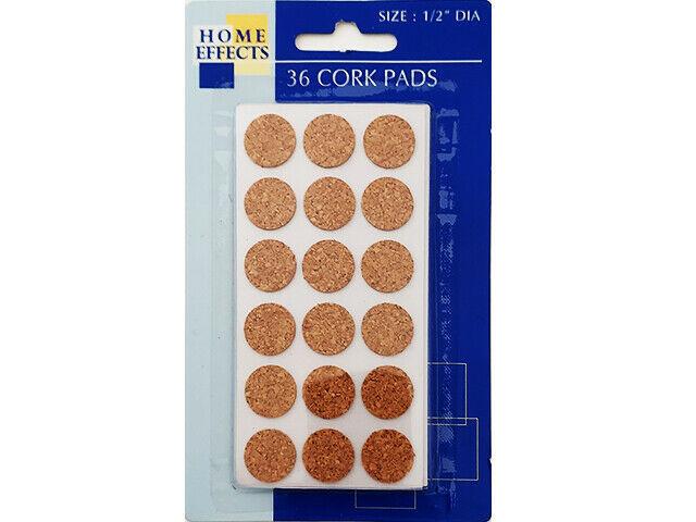 "Greenbriar International 2-Pack 1/2"" Cork Stickers, 72 Count #995391"