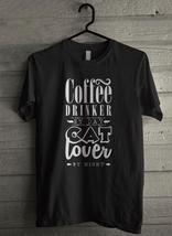 Coffee drinker by day cat lover Men's T-Shirt - Custom (3070) - $19.12+