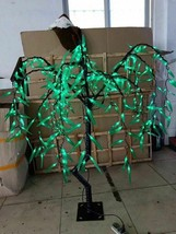 2.6 ft LED Willow Tree Light Outdoor Indoor bar party Light Holiday decor Green - $149.00