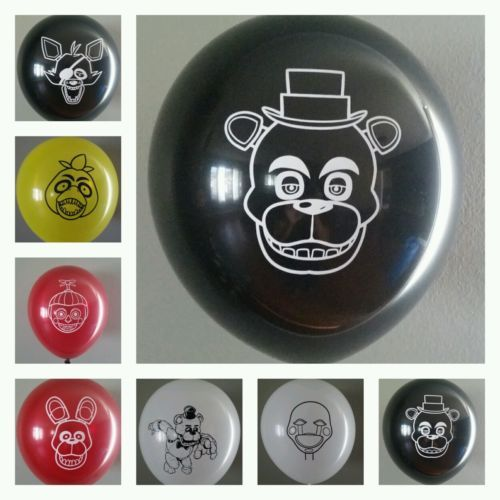 FNAF Five Nights At Freddy's Balloons & Stickers Lot of 29!  FREE Shipping!