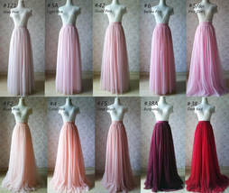 Pink Long Tulle Skirt Bridesmaid Tulle Skirt High Waisted Bridesmaid Outfit image 5