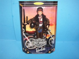 NEW 1998 MATTEL HARLEY-DAVIDSON BARBIE - 2ND IN SERIES RED HEAD COLLECTO... - $19.99