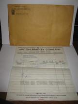 1969 Milton Bradley Invoice #7433 for Broadside Board game piece w/ enve... - $50.00