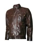 Men's Brown Real Leather Biker Best Jacket Motorcycle Racer Cafe Diwali - $120.62+