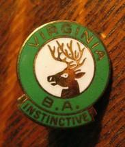 Virginia Elks Club Pin - Vintage BPOE Elks Lodge Club B.A. Instinctive B... - $19.79